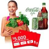 Test Coca Cola LIFE and win $5,000 worth of groceries