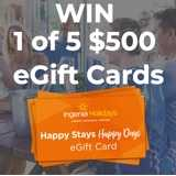 Win $500 'Happy Stays Happy Days' eGift Cards