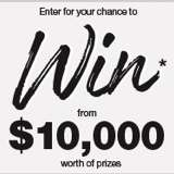 Win 1 of 10 $1,000 VISA Gift Cards