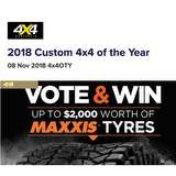 Win a $2,000 Maxxis Tyres Voucher